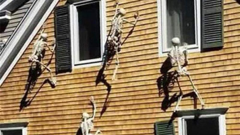 Creative Movable Skull Skeleton Halloween Prop Prop Horror Luminous Evil Party