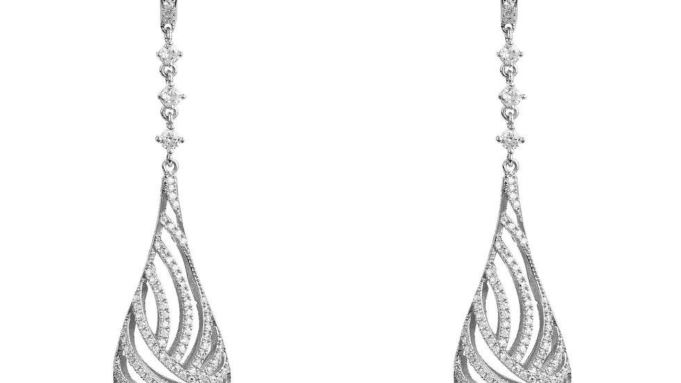 Glistening Dewdrop Earring Silver