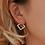 Thumbnail: Trendy Drop Metal Earrings for Women Gold Statement Vintage Round Earrings