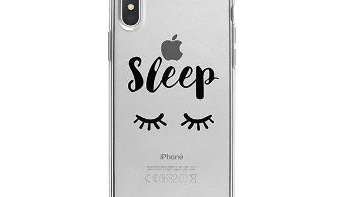 Sleep iPhone X Case Clear