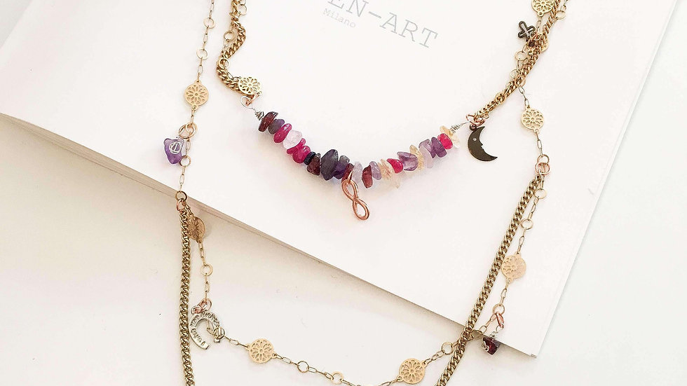 Gold Boho Necklace. Boho Chic Necklace, Boho Statement Necklace.