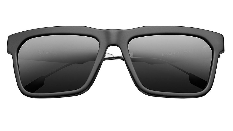 Deano: Matte Black - Polished Gunmetal / Grey AR Lens