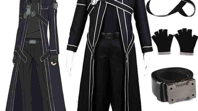 HOT Anime Sword Art Online Kirito Cosplay Costume Fancy Halloween Costumes
