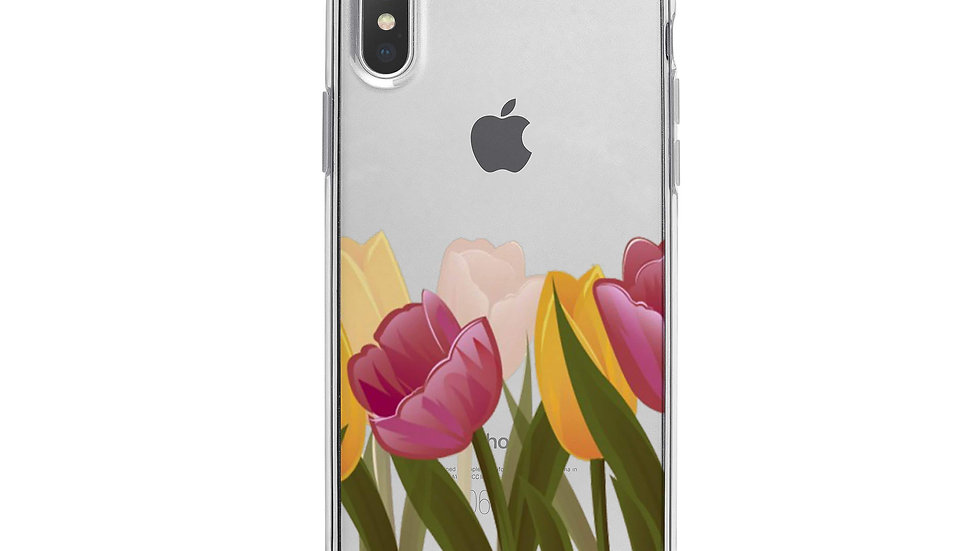 Tulips iPhone X Case Clear