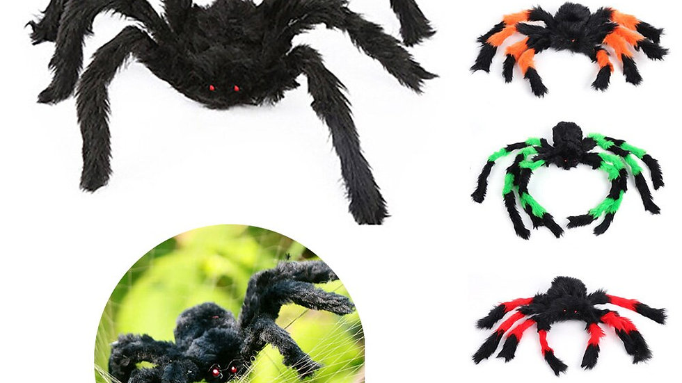 Lifelike Halloween Props Plush Spider Toy Simulation Supplies for Party 30cm