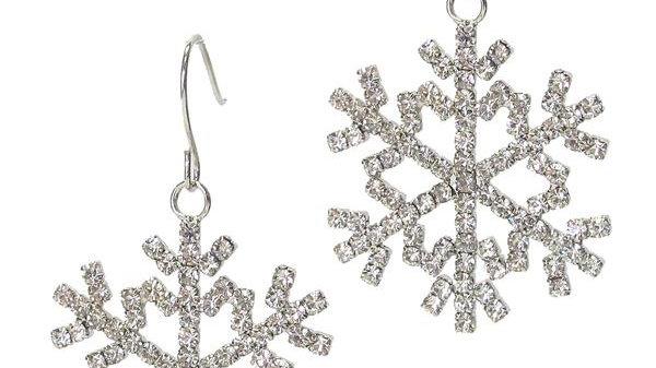 Snowflake Dangle Crystal Earrings