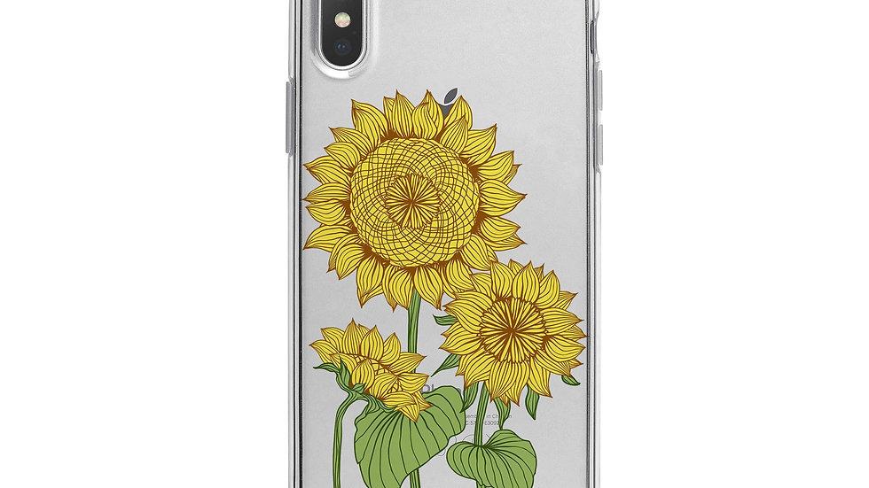 Sunny Sunflower iPhone X Case Clear