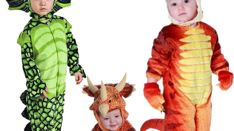 New Triceratops Costume Boys Kids Little T-Rex Costume Dinosaur JumpsuitHaloween