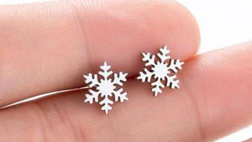 Fashion Snowflake Stud Earrings Christmas Earrings