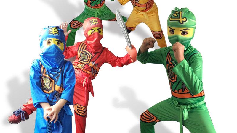 Ninjago Costume Boys Costumes Children Fancy Party Dress Up Carnival Halloween