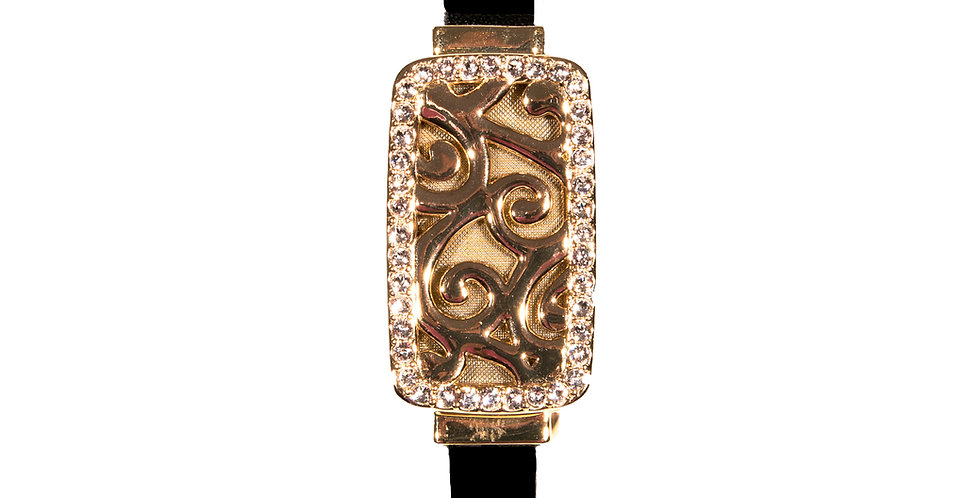 Cooling Bracelet with Premium Leather Band - Gold