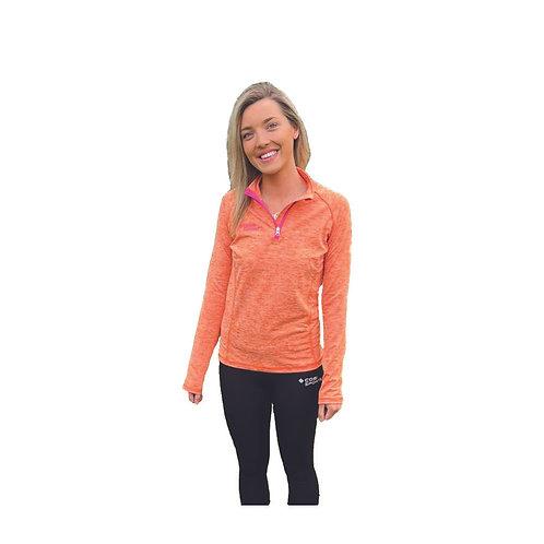 Orange Melange 1/2 Zip