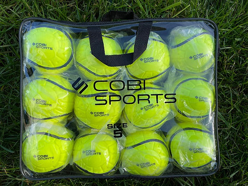 Cobi Sports Rimmed Wall Balls Yellow - 12 Pack