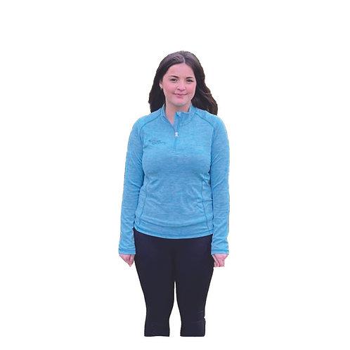 Turquoise Melange 1/2 Zip