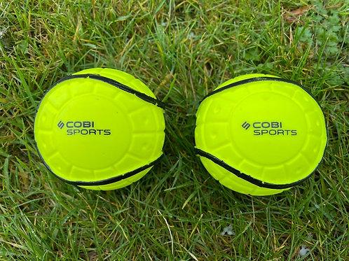 Cobi Sports Rimmed Wall Balls Yellow - 2 Pack