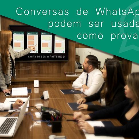 Conversas de WhatsApp podem ser usadas como prova?