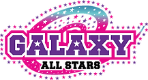 Galaxy all stars Logo in pink and purple