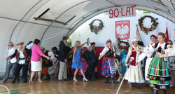 Traditional dance Polonez