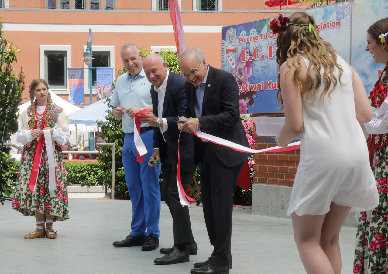 Cutting ribbon ceremony - official opening