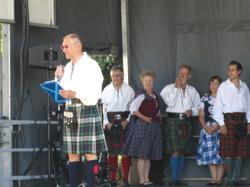 Scottish folk dance group