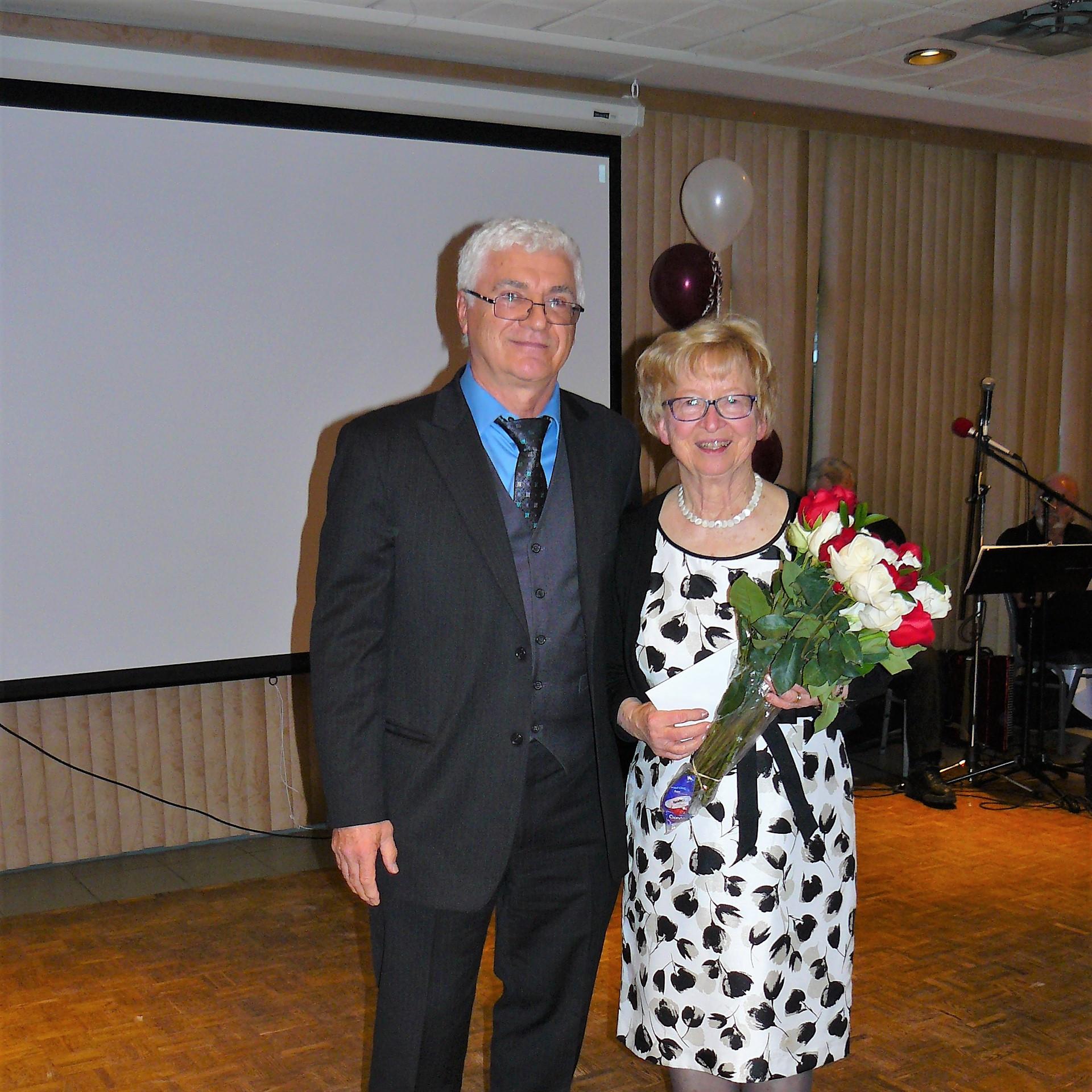 A. Kostka , President Tri-City Polonez , J. Freyman , President Polish Canadian Women Federation in Vancouver