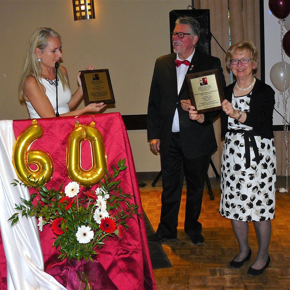 I. Swiatczak, President CPC BC , A. Dobrowolski Vice-President CPC BC, J. Freyman President Polish Canadian Women Federation in Vancouver