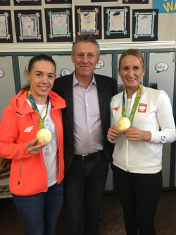 In the company of gold medalists