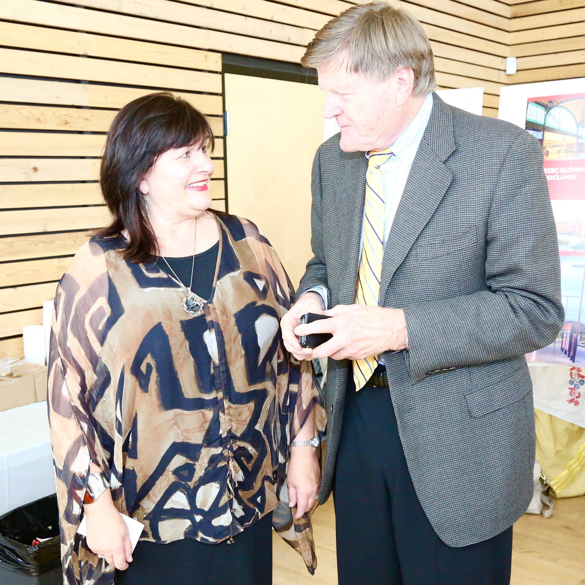 Urszula Sulinska and Ralph Sultan MLA West Vancouver