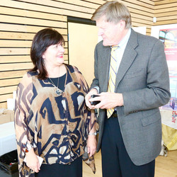 Urszula Sulinska and Ralph Sultan MLA West Vancouver