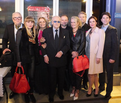 With the artists of the evening.