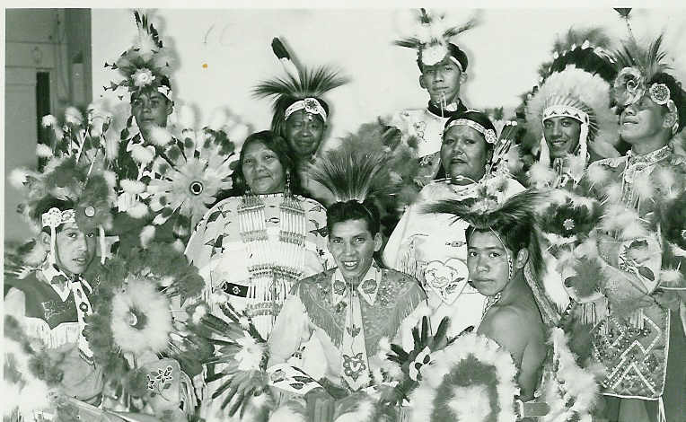 CUCH FAMILY WITH OTHER UTE DANCERS