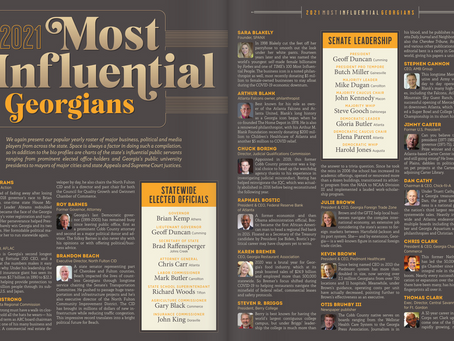 Executive Director Brandon Beach & Board Chairman Kerry Armstrong Named Most Influential Georgians