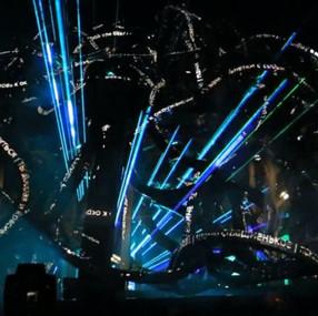 """Brain Explosion"" live projection"