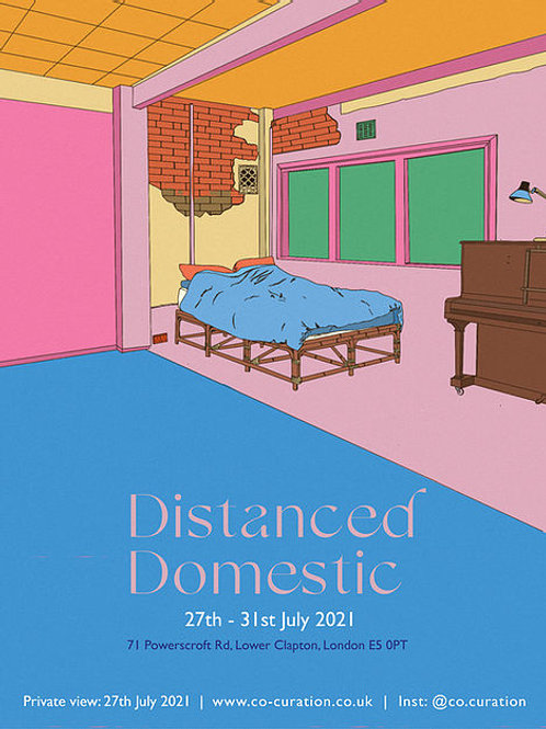 Distanced Domestic Exhibition Poster