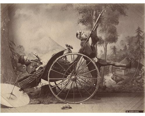 """PHOTOGRAPHE INCONNU (c.1880) – """"Un tour de pousse-pousse ?"""""""