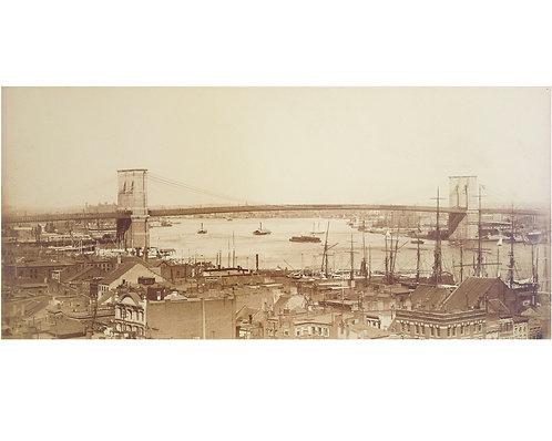 "JOHN S. JOHNSTON (1839-1899) – ""Brooklyn Bridge"""