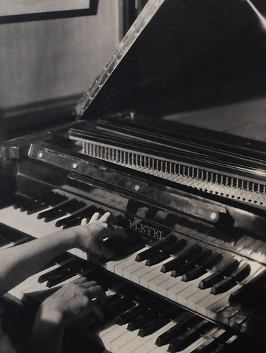 "BLANC & DEMILLY (act.c.1924-c.1962) - ""Paule de Lestang playing piano"""