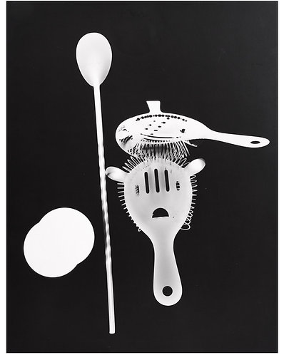 """HUBERT LECKIE (1913-1993) - """"Photogramme d'accessoires de cocktail"""""""