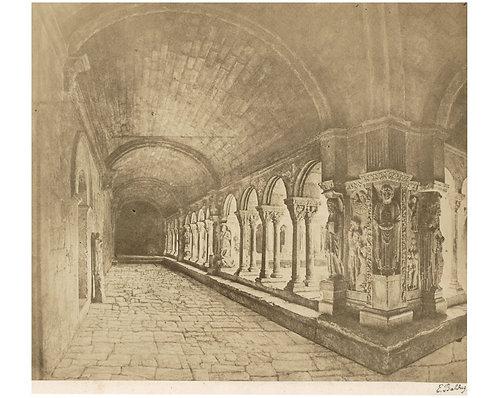 """EDOUARD DENIS BALDUS (1813-1889) - """"Cloitre de Saint Trophyme"""""""