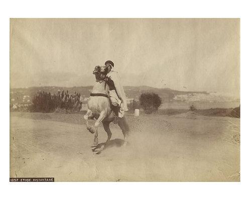 "ALBERT LONDE (1858-1917) - ""Etude d'instantané. Un cavalier arabe """