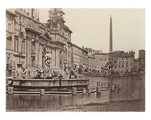 "PHOTOGRAPHE ANONYME (c.1860) - ""Piaza Navona"""