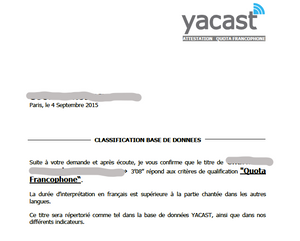 attestation quota francophone