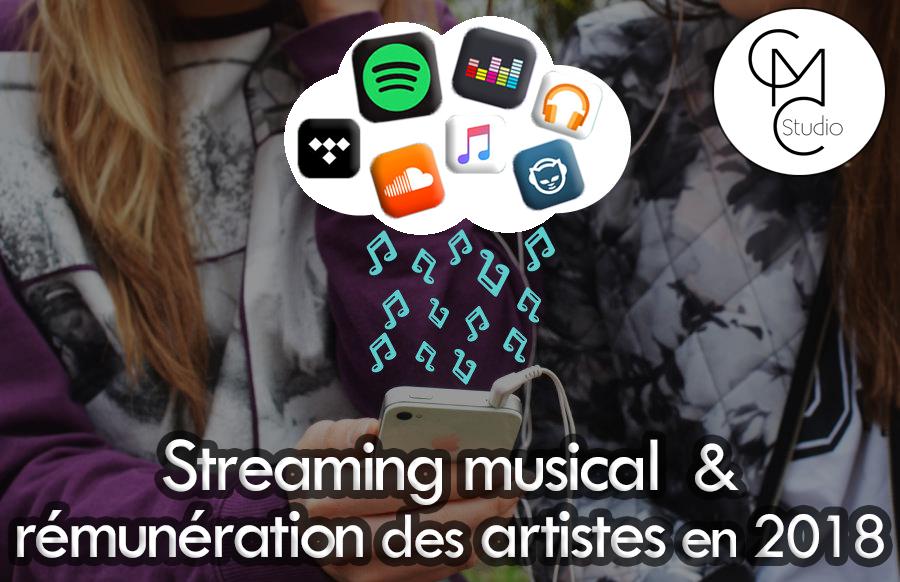 Streaming Musical et rémunération des artistes en 2018