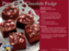 Peppermint Fudge Recipe Postcard