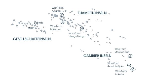 Tahiti Landkarte