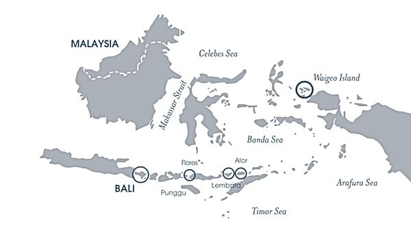 Bali Landkarte
