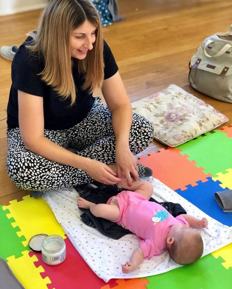 Emily and Daisy enjoying massage!