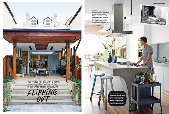 Before and after terrace house story for Inside Out magazine