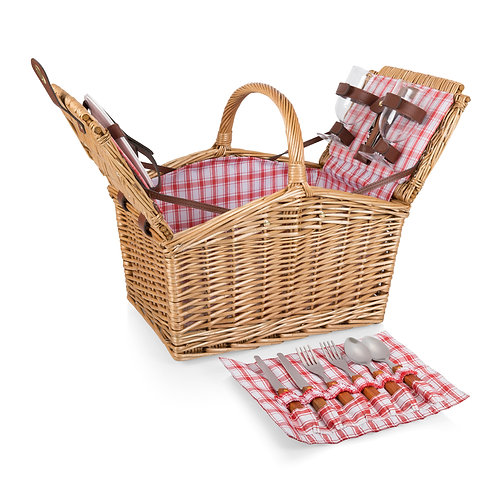 202-19 Piccadilly Picnic Basket -  Open W tools