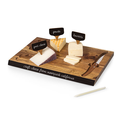 Catalog No. 833-00-512 - Delio Acacia Cheese Cutting Board & Tools Set